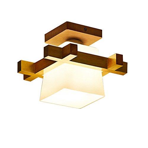 FGXDD Lumières de plafond Éclairage LED Lumière de salle de bain en bois massif Simple Moderne 230 * 180mm A+