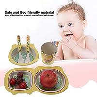 漫画の赤ちゃんの食器セット食品給餌セット、環境にやさしい子供用食器、子供のための幼児子供のための赤ちゃん(giraffe)