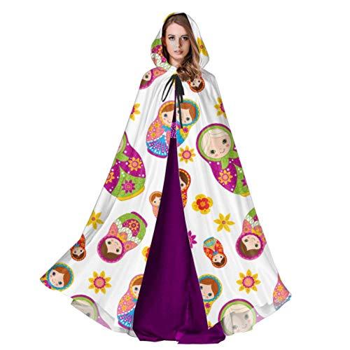 QuqUshop Süße Matroschka Russische Puppe Umhang Mantel Bluse Großen Kapuzenmantel 59 Zoll Für Weihnachten Halloween Cosplay Kostüme