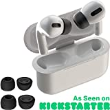 CharJenPro AirFoams Pro: Premium Memory Foam Ear Tips for AirPods Pro. Stays in Your Ears. No Silicone Ear tip Pain. Includes 2 Sizes. The Original from Kickstarter. (Black)