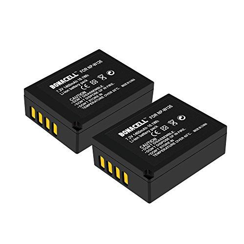 Bonacell - 2 batterie sostitutive per fotocamera Fujifilm NP-W126, 1400 mAh, compatibili con Fujifilm X-T10, X-T20, X100F, FinePix HS30EXR, HS33EXR, HS35EXR, HS50EXR, X-A1, X-A2, X-A3, X-E2, X-E3,