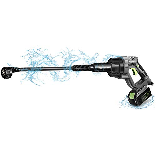 Cordless Pressure Washer, 20V 4.0Ah Max 380 PSI VARSK Portable Pressure Washer, Battery and Charger Included, Suitable for Washing Cars, Watering Flowers, Cleaning Floors, etc. VAR-910