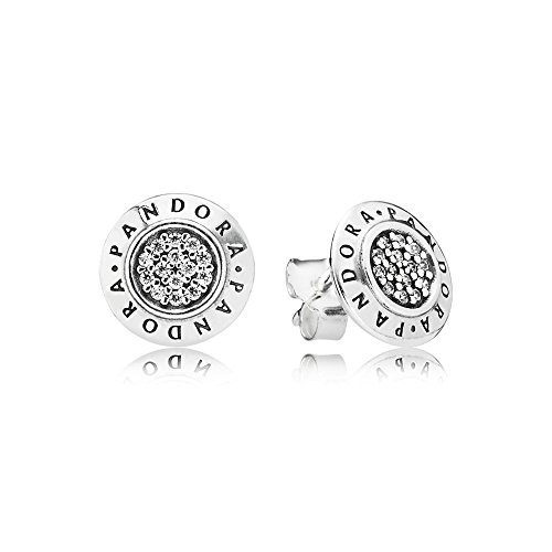 Pandora Jewelry - Sparkling Pandora Logo Stud Earrings in Sterling Silver with Clear Cubic Zirconia