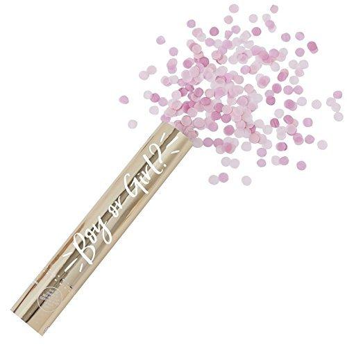 Konfetti-Shooter / Konfetti-Kanone Oh Baby Girl mit Konfettis in rosa-pink & Gold / Baby-Party / Baby-Shower-Party / Dekoration / Geburt / Taufe / Mädchen / Schwangerschaft
