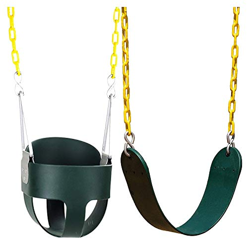 Read About Squirrel Products High Back Full Bucket Swing and Heavy Duty Swing Seat - Swing Set Acces...