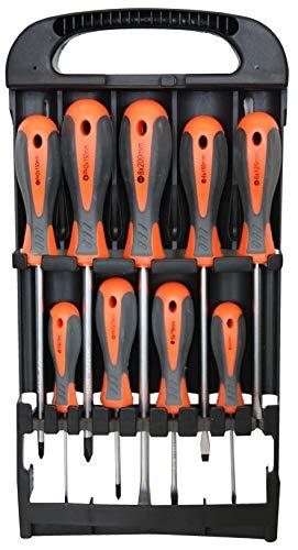 Schroevendraaiers 9-delige set in rek