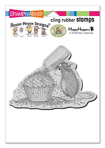 STAMPENDOUS HOUSE MOUSE CLING CUPCAKE SP, Rubber
