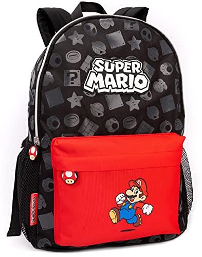 "Nintendo Super Mario Mochila Kids Boys Girls School Rucksack 16"" Un tamaño"