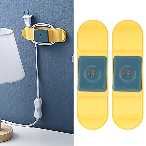 Adhesivo para enchufes, diseño dos en uno Soporte para enchufes Diseño giratorio de 360 ° Larga vida útil Alta confiabilidad para la oficina para colegas para la familia para enchufes