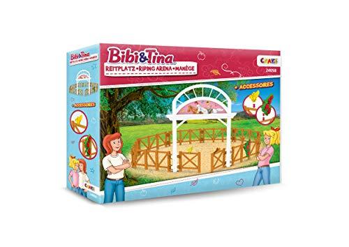 CRAZE Bibi und Tina BIBI & Tina Riding Arena Reitarena für Pferdefiguren Spielset 24058