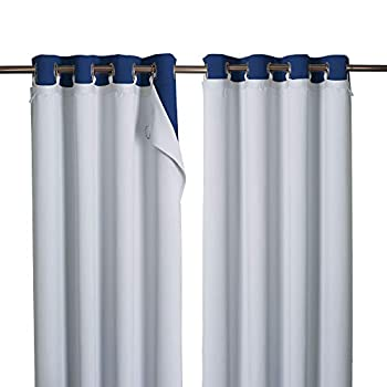 NICETOWN Blackout Curtain Liners Curtain Lining for Window Cold Heat Light Noise Blocking Curtain Liners for Drapes Blackout Thermal Panel Liners for Sheer Curtains 1 Pair 50  x 92  Per Panel