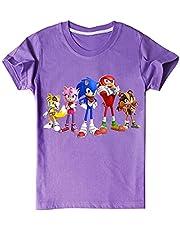 EA-SDN Sonic The Hedgehog T-shirt voor kinderen, cartoons, korte mouwen, katoen, katoen, 110-160 cm, 3-14 jaar