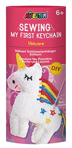 Avenir 6301620 DIY Nähset, Sewing Unicorn, Motiv Einhorn, Bastelset für Kinder, Kreativ-Set, ab 6 Jahren