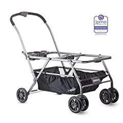"""TWIN INFANT CAR SEAT FRAME STROLLER with unique side mounts for easy access to both babies COMPATIBLE WITH MAJOR BRAND CAR SEATS with """"click-in"""" functionality (ADAPTERS SOLD SEPARATELY) STURDY and STABLE, easy handling and super maneuverability FEATU..."""