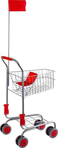 Small Foot 4046 Caddie «Argent» en métal, accessoire pour boutiques marchande et épiceries, à partir de 3 ans...