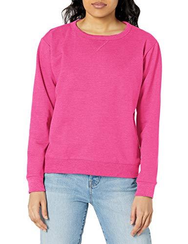 Hanes Women's EcoSmart Crewneck Sweatshirt, Sizzling Pink, Large