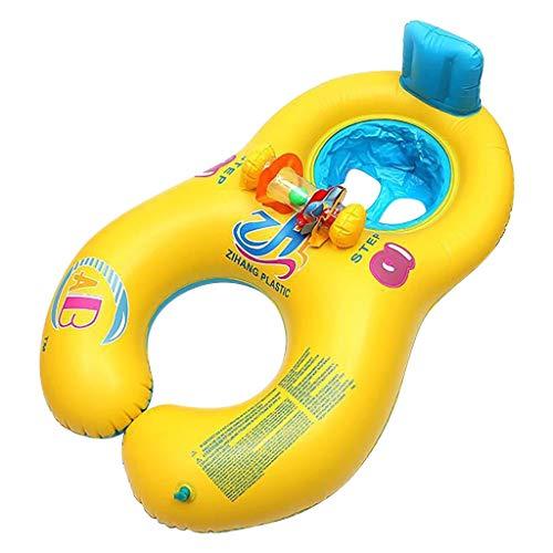 Koly-Hundebett 37 x 23 Zoll Anti-brechen aufblasbar Baby Schwimmen schweben mit sichern Unterseite Unterstützung zum Neugeborene Kind Kleinkind Sommer- draussen Strand Schwimmen Ring