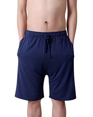 Dolamen Hombre Pantalones de pijama Algodón Modal, Pantalones Boxeador Cortos...