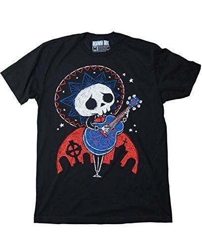 Akumu Ink - Herren Premium Tattoo Comic T-Shirt - New Serenade Skull (Schwarz) (S-L) (XL)