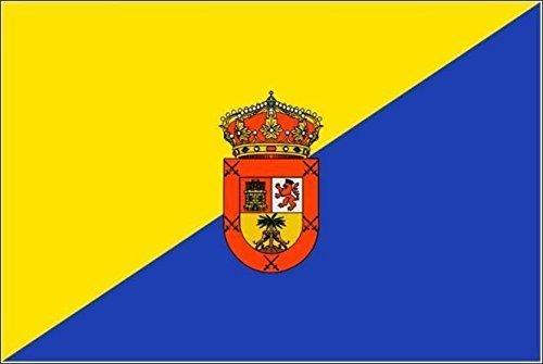U24 motorfiets vlag Gran Canaria vlag 20 x 30 cm