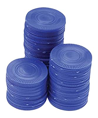 U.S. Toy Poker Chips Card Game (100 Bags), Blue