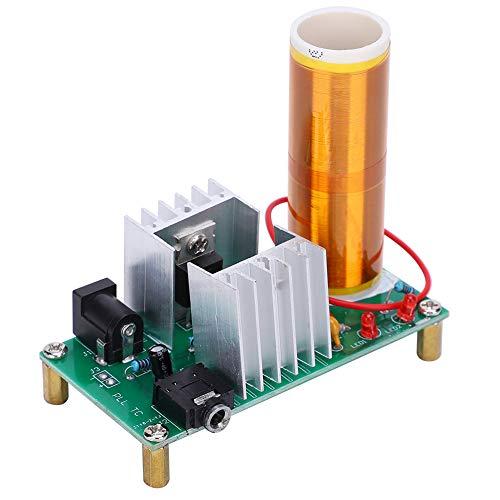 Elektronisches Tesla-Spulenmodul-DIY-Kit, Mini-Musiklautsprecherplatine, 15 W DC 15-24 V 2A Tesla-Spulenmodul DIY-Mini-Baugruppe Plasma-Lautsprecher-Elektronik-Kit