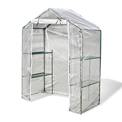 BAI Yin Invernadero Plastico, Tres Capas Accesibles Anticongelante Prueba Polvo, Calentador Hidratante, Membrana Alta Transmisión Luz 7 Hilos Balcón Jardín Planta Invernadero