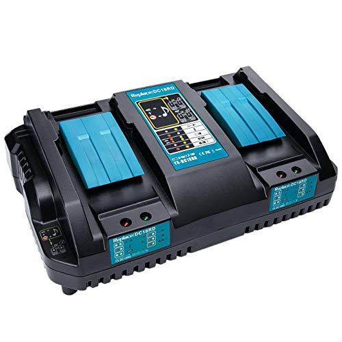 Nicetruc DC18RD Cargador rápido reemplazo de la Herramienta eléctrica de Iones de Litio Cargador 4A 7.2V-18V para la Herramienta eléctrica Makita batería DC18RA DC18RC