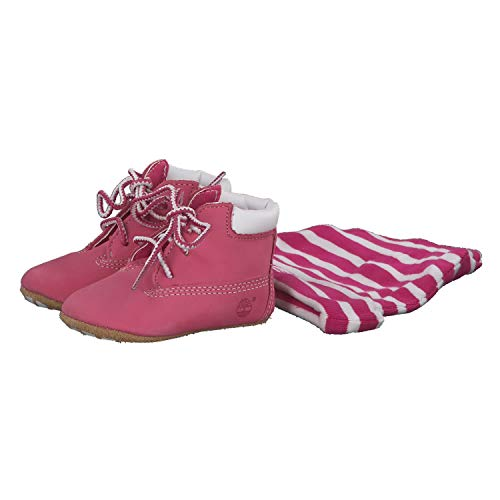 Timberland Kids Crib Bootie with Hat (Infant/Toddler) Fuchsia Rose 1 Infant