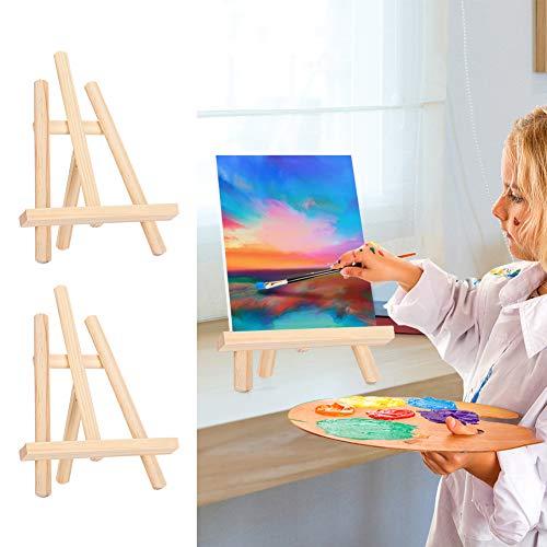 YOIM Caballete de exhibición, Mini Caballete Caballete de Mesa Soporte Caballete de Pintura Caballete de Mesa para Dibujar para Pintura al óleo para Dibujar para Pintar