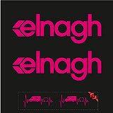 Sticker Mimo Pegatinas compatibles con ELNAGH Mini Kit 1, accesorios para caravana, caravana, autocaravana, autocaravana, camping (rosa 50 cm)