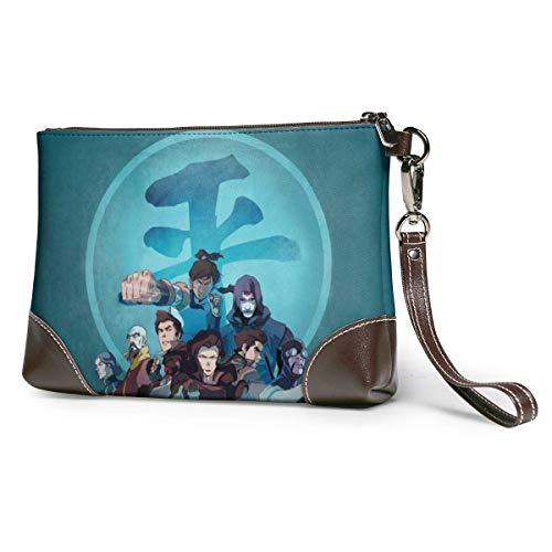 XCNGG AnimeAvatarTheLastAirbender Womens Genuine Leather Wristlet Zipper Wallet Phone Passport Holder Hand Purse,Large Capacity Men Cowhide Clutches Purses