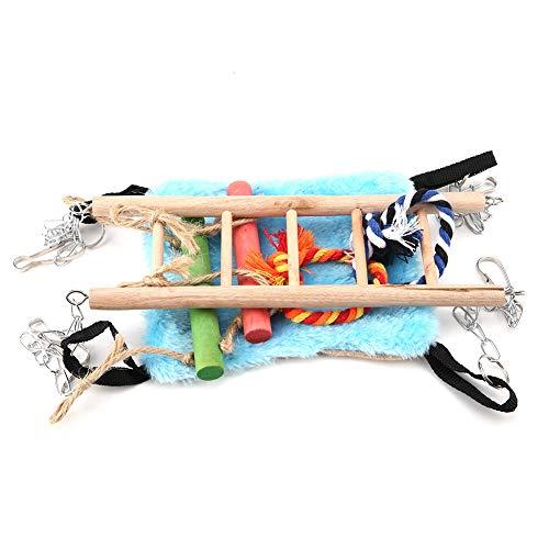 Evonecy Juego de Juguetes para pájaros Duradero, Red de Escalada, Cuerda de cáñamo para Juegos de pájaros, Accesorios para jaulas de pájaros, Colgantes para Loro, hámster