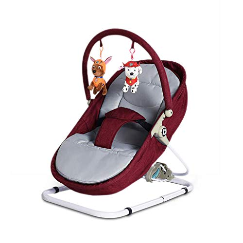 Great Deal! FJH Rocking Horses Portable Rocking Chair Iron Lazy Man Washable Folding Sleepy Lying Ba...