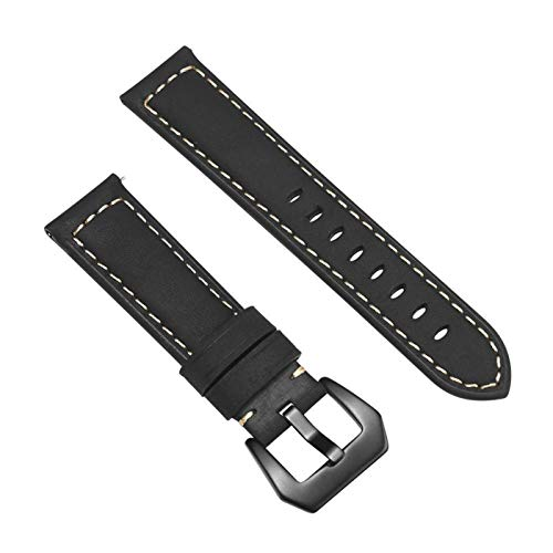 PZZZHF Banda de Reloj de Cuero Genuino de 20 mm de 22 mm para Amazfit para Huawei para Samsung Galaxy Watch Active2 46mm 42mm Gear S3 Strap Straps Reemplazo