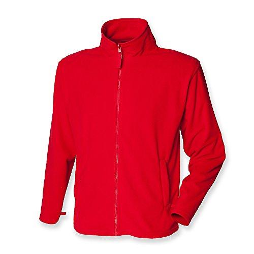 Henbury Men's Micro Fleece Jacket Classic Red L