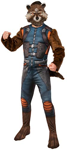 Rubie's Men's Guardians of The Galaxy Rocket Raccoon Costume, Multi Color, Standard