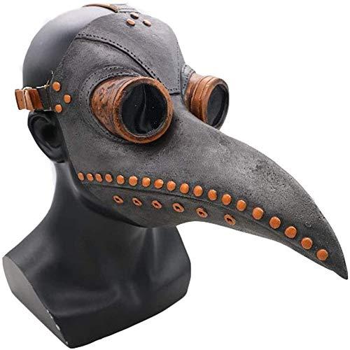 Arts Van De Plaag Mask Vogels Lange Neus Snavel, Steampunk Masker Halloween Costume Props PU Leren Masker