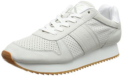 Calvin Klein Jeans Herren Gaston Shiny Goat/Smooth Sneaker, Elfenbein (Ofw 000), 44 EU