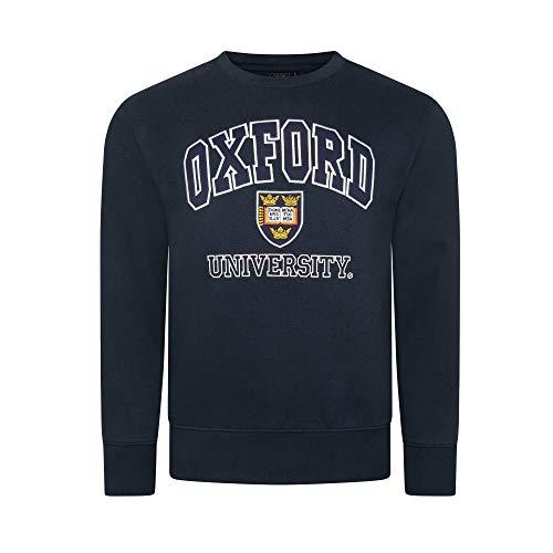 Advance Apparel Oxford University Sudaderas Unisex Hombres Mujer Oficial con Licencia Ropa Bordado Regalo de Recuerdo Mens Womens Sweatshirts Jumper (XS, Azul Marino)