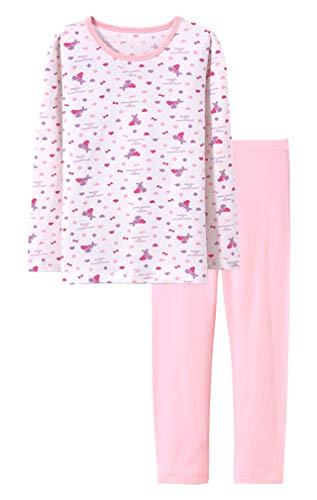 ABClothing Kinder & Kleinkind Bunny Pyjamas Mädchen 2 Stück Pjs Set Bio Baumwolle Nachtwäsche 12T Lila