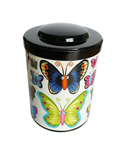 Kalam Boite à thé ou café Papillons déco - fabriqué en France - créateur
