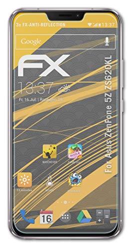 atFolix Panzerfolie kompatibel mit Asus ZenFone 5Z ZS620KL Schutzfolie, entspiegelnde & stoßdämpfende FX Folie (3X)