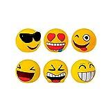 DISOK Lote de 12 Huchas Emoticonos - Huchas Divertidas Originales Emoticonos - Regalos, Regalo, Detalles de Primera Comunión, Comunión, Cumpleaños
