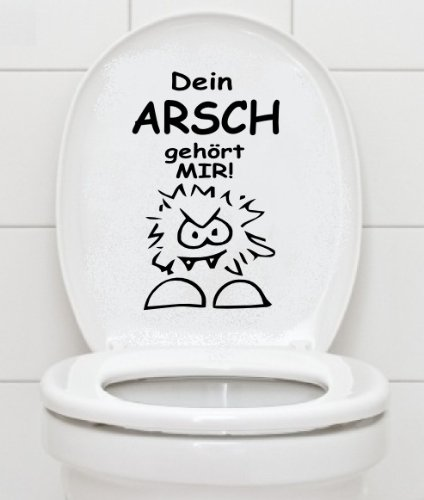 Wc Aufkleber - Dein Arsch Gehã–Rt Mir - Bad Klo Toilettendeckel Wandtattoo Schwarz
