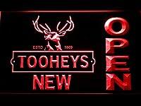 Toohey's Open LED看板 ネオンサイン ライト 電飾 広告用標識 W40cm x H30cm レッド