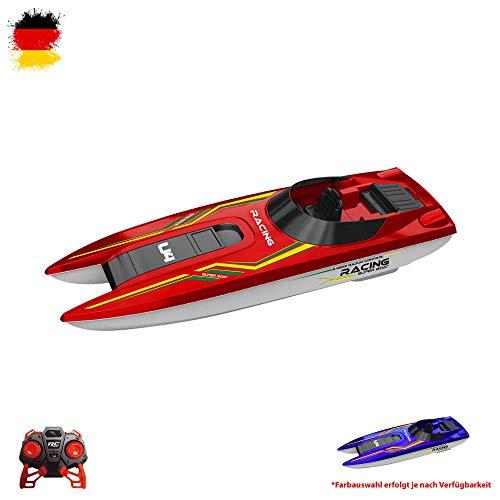 Himoto HSP 2.4GHz RC ferngesteuertes Mini Speedboot , Top Einsteiger Modell mit Power Geschwindigkeit, Lange Laufzeit und hohe Reichweite, Komplett-Set
