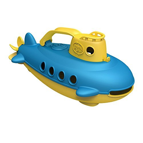 Green Toys Submarine in Yellow - BPA Free, Phthalate Free, Bath Toy with Spinning Rear Propeller. Safe Toys for Toddlers, Babies by Green Toys