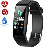 HETP Fitness Trackers with Blood Pressure & Heart Rate Monitor Smart Watches Fitness