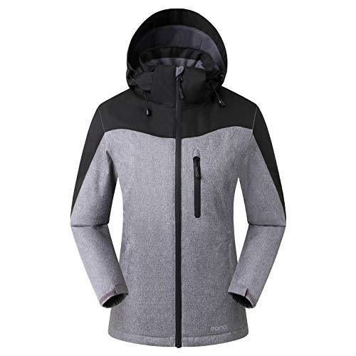 Eono Essentials - Veste de ski Orebro pour femme, tailleXL, Mélange de noirs